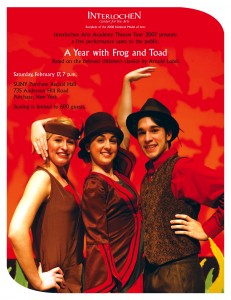 Frog and Toad Flyer